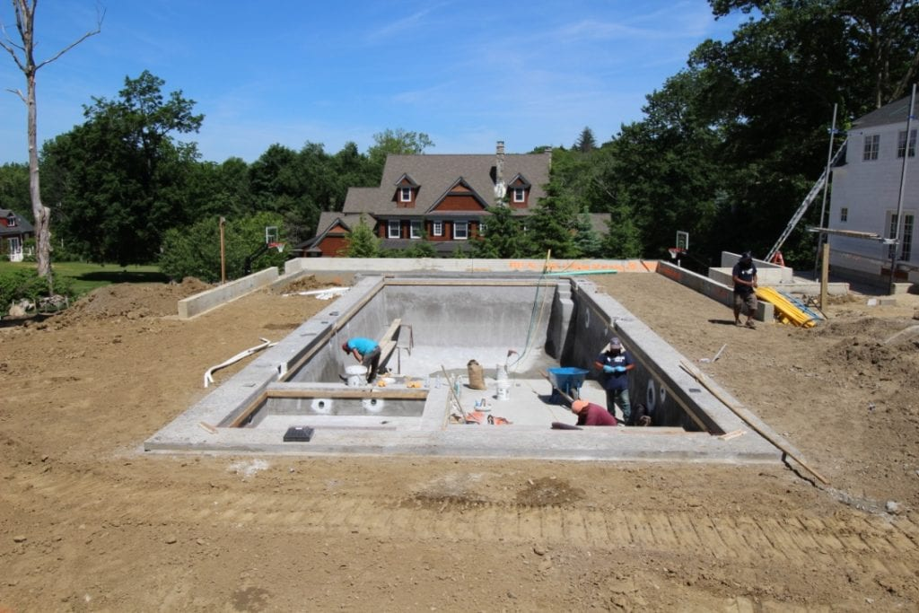Construction of a Luxury Pool